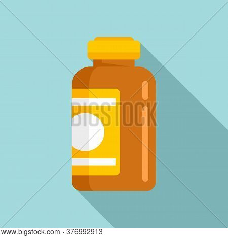 Aid Cough Syrup Icon. Flat Illustration Of Aid Cough Syrup Vector Icon For Web Design