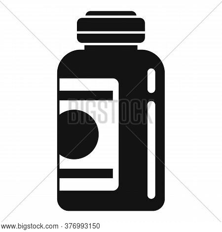 Aid Cough Syrup Icon. Simple Illustration Of Aid Cough Syrup Vector Icon For Web Design Isolated On