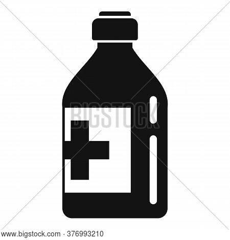 Vitamin Cough Syrup Icon. Simple Illustration Of Vitamin Cough Syrup Vector Icon For Web Design Isol
