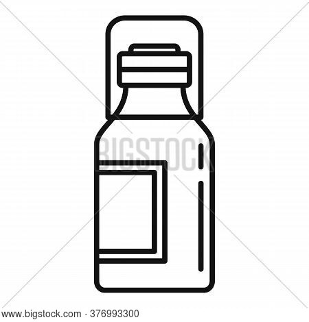 Medical Cough Syrup Icon. Outline Medical Cough Syrup Vector Icon For Web Design Isolated On White B