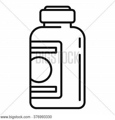 Healthcare Cough Syrup Icon. Outline Healthcare Cough Syrup Vector Icon For Web Design Isolated On W