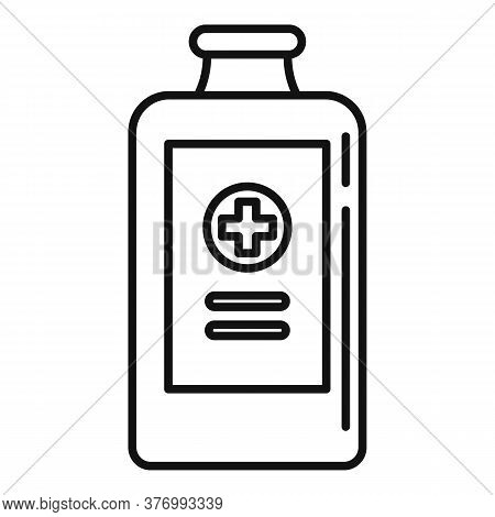 Baby Cough Syrup Icon. Outline Baby Cough Syrup Vector Icon For Web Design Isolated On White Backgro