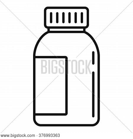 Liquid Cough Syrup Icon. Outline Liquid Cough Syrup Vector Icon For Web Design Isolated On White Bac