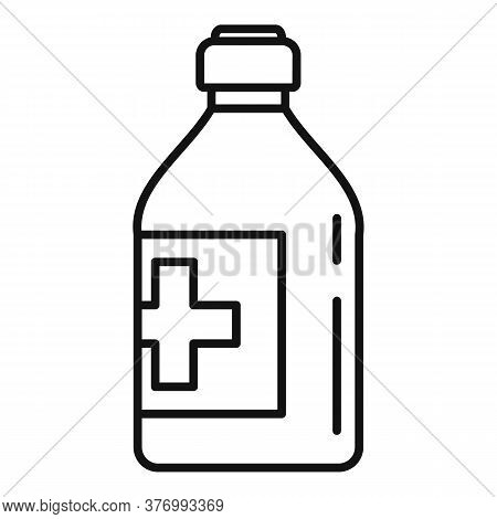 Vitamin Cough Syrup Icon. Outline Vitamin Cough Syrup Vector Icon For Web Design Isolated On White B