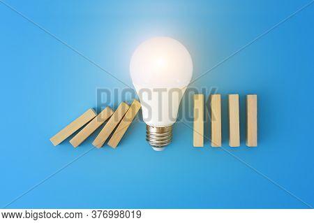 Idea Concept , The Idea To Stop The Fall .idea  Victory