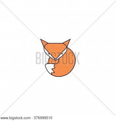 Icon Of Orange Fox. Vector Illustration Eps 10