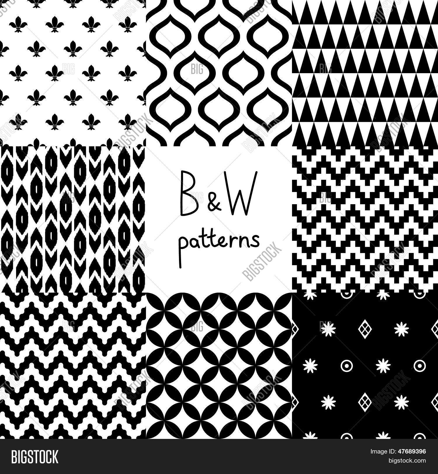 Disegni Geometrici Bianco E Nero foto e immagine vettoriale a tema (prova gratuita)   bigstock