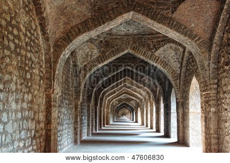 Ruins of Afghan architecture in Mandu.
