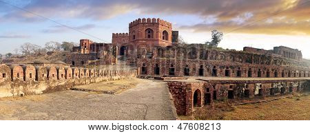 Picturesque panorama of Fatehpur Sikri Fort, India. poster