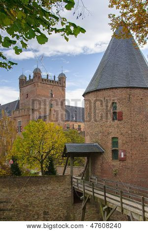 Tower of castle huis Bergh (Middle Ages) in 's Heerenberg in (Holland) The Netherlands poster