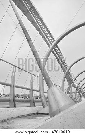 Zaragoza ,spain-16 May :  Detail Of Bridge Of The Third Millenium In Zaragoza On 16, May 2013.
