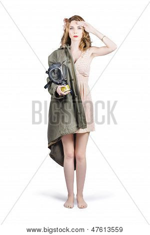 Attractive Young Australian Army Pinup Woman
