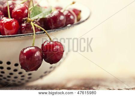 Close-up Fresh Cherries