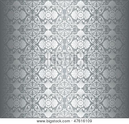 Silver luxury vintage wallpaper