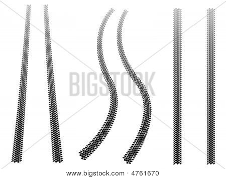 Chunky Tire Tracks