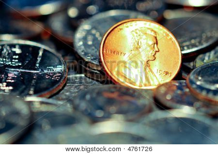 Penny Among Quarters