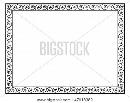 Greek style black ornamental decorative frame