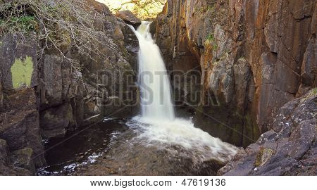 wide shot of a waterfall