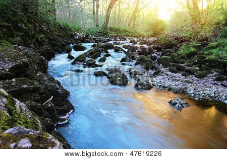 flowing colourful river