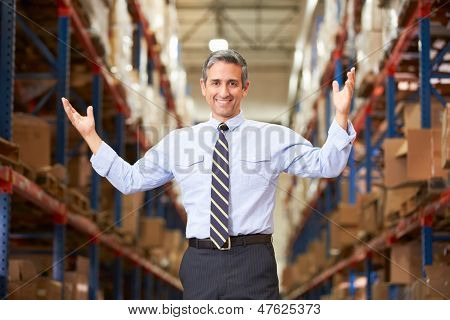 Portrait Of Manager In Warehouse