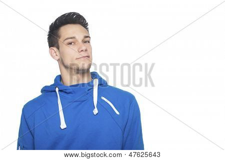 Portrait Of Young Man Isolated On White Background