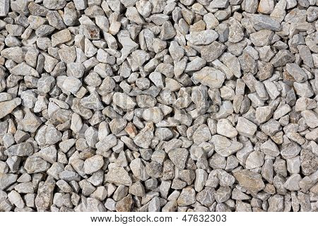 White pebbles