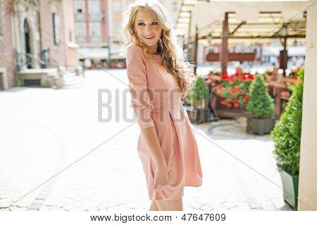 Summer blonde girl