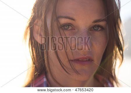 Face Of Brunette Female Model