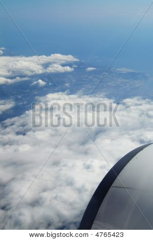 View Outside From A Plane