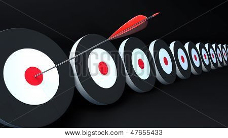 Targets And Arrow Black