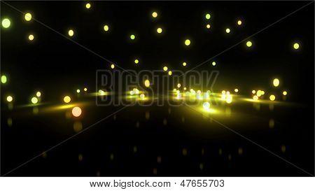 Gold Bouncing Light Balls Wide
