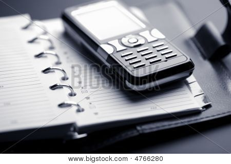 Organizer And Mobile Phone
