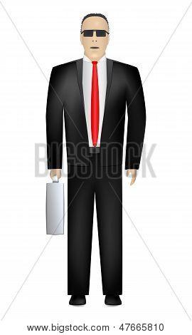 Вид спереди Man. бизнес. Вектор