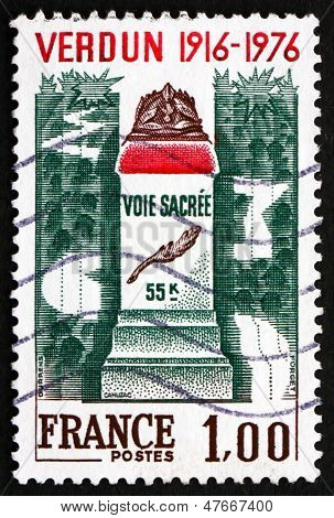 Postage Stamp France 1976 Battle Of Verdun Memorial, Wwi