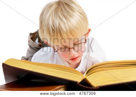 Boy Is Reading A Good Book