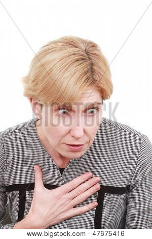 Woman is chocking