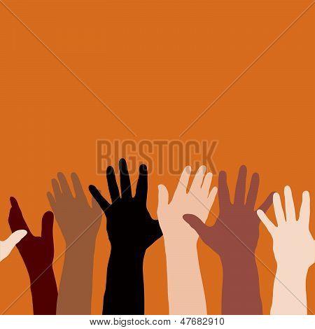 Hände erhoben (horizontal nahtlos)