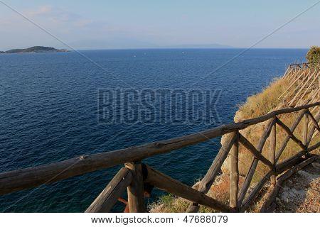 The Aegean coast, overlooking a small island
