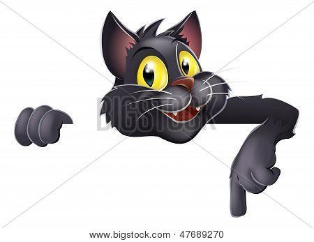 Halloween Black Cat Cartoon