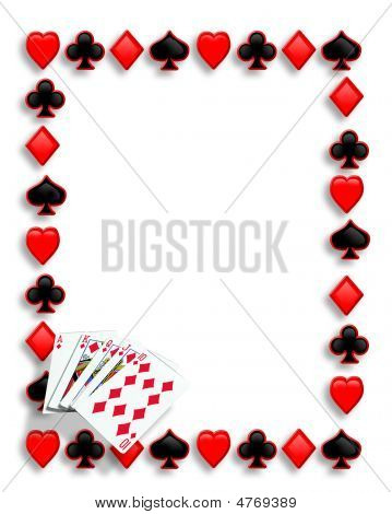 Playing Cards Poker Border Royal Flush