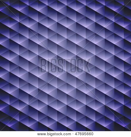 Dark Blue Geometric Cubic Background