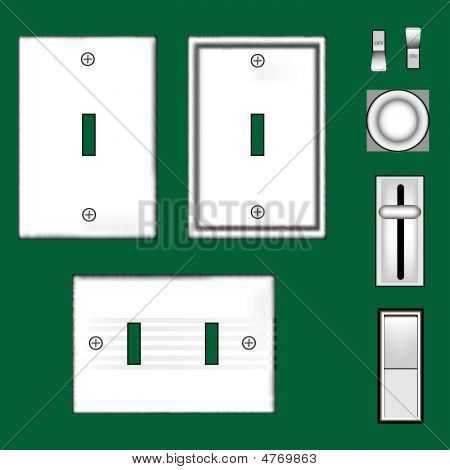 White Light Switches And Faceplates