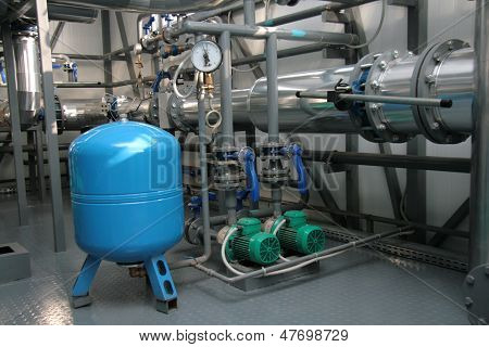 The Feed Equipment In A Boiler-house