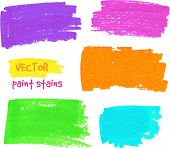 Vibrant colors vector felt pen stains. This is file of EPS10 format. poster