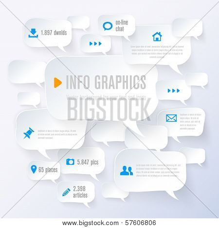 Stylized Paper Bubbles - Infographics - Place For Your Text And Icons