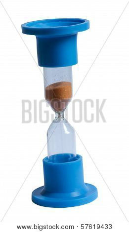 An Isolated Hourglass On White