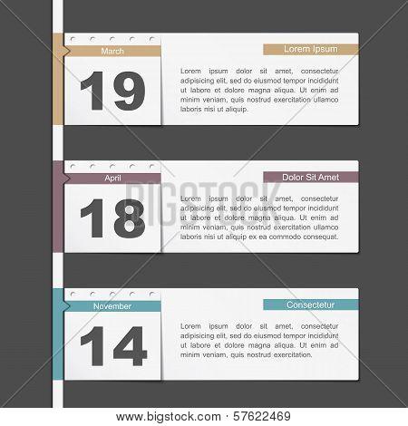 Timeline Design With Calendar Pages