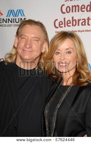Joe Walsh and wife Marjorie Bach at the International Myeloma Foundation's 3rd Annual Comedy Celebration for the Peter Boyle Memorial Fund, Wilshire Ebell Theater, Los Angeles, CA. 11-07-09