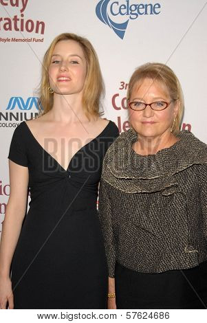 Lucy and Loraine Boyle at the International Myeloma Foundation's 3rd Annual Comedy Celebration for the Peter Boyle Memorial Fund, Wilshire Ebell Theater, Los Angeles, CA. 11-07-09