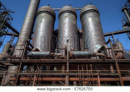 Abandoned Steel Mill Silos